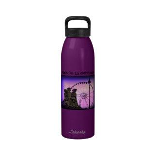 Color Pinhole Place De La Concorde Water Bottles