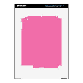 Color Pink Girly Girl Stuff Customizable Skins For iPad 3