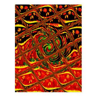 Color.png tradicional africano rojo de oro tarjeta postal