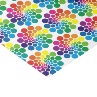 Color Points Circle Pattern + your background Tissue Paper