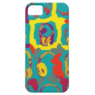 color pop art dj headphones iPhone 5 cover