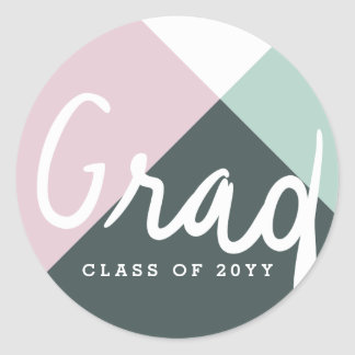 Color Pop Grad Classic Round Sticker