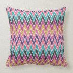 Color Pop Ikat Chevron Pillows