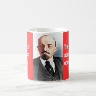 Color portrait of Lenin Coffee Mug