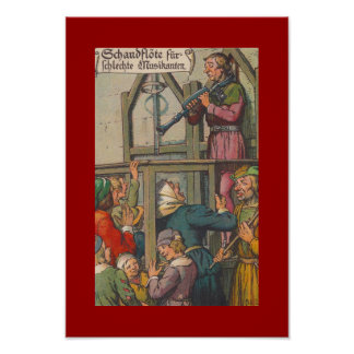 COLOR POSTER ~ VINTAGE PUBLIC HUMILIATION RIDICULE