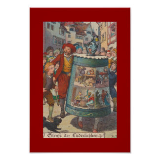 COLOR POSTER ~ VINTAGE PUBLIC HUMILIATION RIDICULE