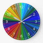 Color Prism Large Clock