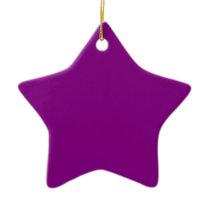Color purple ceramic ornament