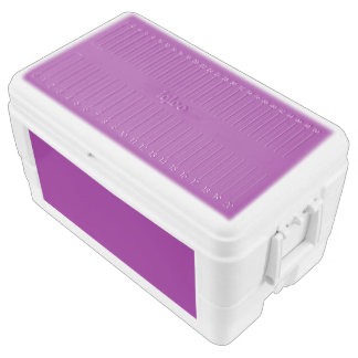 Color purple chest cooler