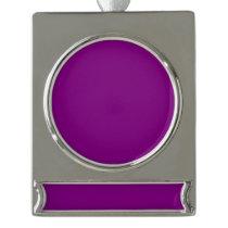 Color purple silver plated banner ornament