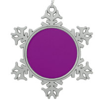 Color purple snowflake pewter christmas ornament