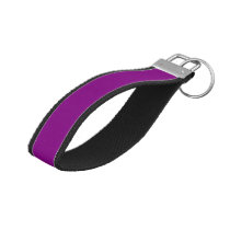 Color purple wrist keychain