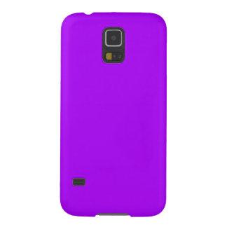 Color púrpura de neón fucsia púrpura brillante carcasa de galaxy s5