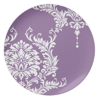 Color púrpura del damasco 2012 del Bellflower Platos Para Fiestas