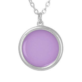 Color púrpura encantadoramente exquisito P07 Collar Plateado