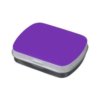 Color púrpura latas de dulces