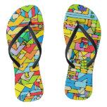 Color puzzle flip flops