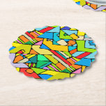 Color puzzle paper coaster