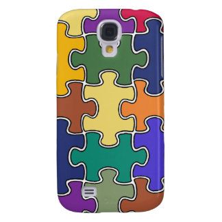 color puzzle pieces galaxy s4 cover