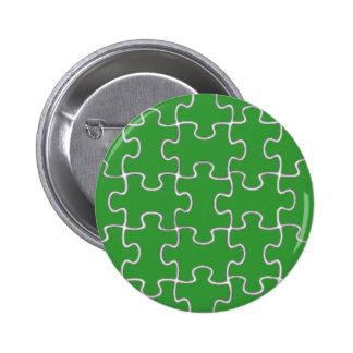 color puzzle pieces pinback button