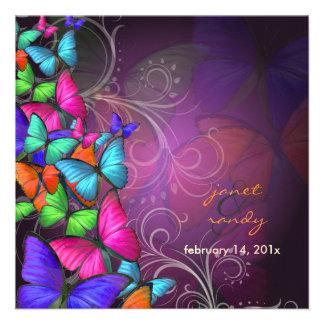 Color que agita ciruelo de PixDezines By Neon Invitación