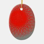 color que estalla rojo abstracto adornos de navidad