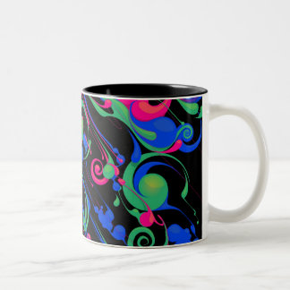 Color Rain 2 Two-Tone Coffee Mug