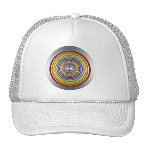 COLOR RAINBOW GRAPHICS BULLSEYE GAY LESBIAN PRIDE MESH HATS