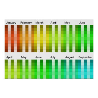 Color Rainbow Long Poster Color Decor Accent 16