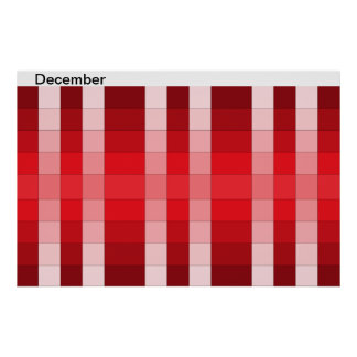 Color Rainbow Poster Month December Calendar 12