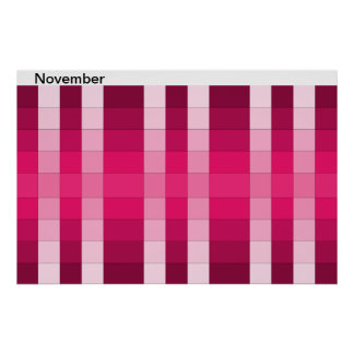 Color Rainbow Poster Month November Calendar 11