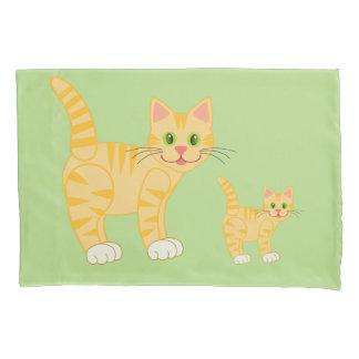 Color rayado lindo del personalizado del gato y funda de cojín