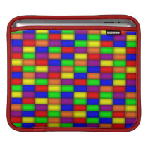 Color Rectangle Pattern iPad Sleeve