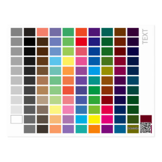 Color Reference Chart Postcard