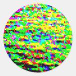 Color regado pegatinas redondas
