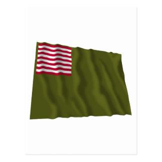 Color regimental de Delaware - bandera de Dansey Postales
