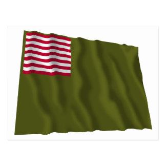 Color regimental de Delaware - bandera de Dansey Tarjetas Postales