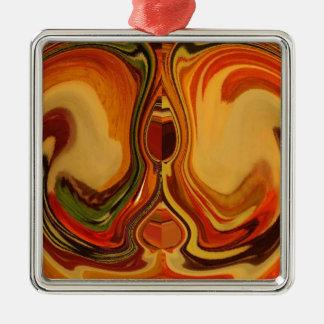 Color retro fresco de la trama de la caída de adorno cuadrado plateado