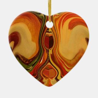 Color retro fresco de la trama de la caída de adorno de cerámica en forma de corazón