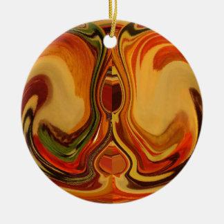 Color retro fresco de la trama de la caída de adorno redondo de cerámica