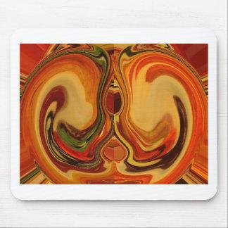 Color retro fresco de la trama de la caída de tapete de raton