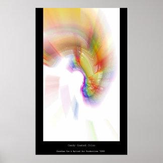 Color revestido del caramelo posters