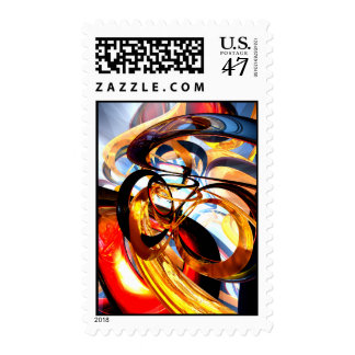 Color Revolution Abstract Stamp
