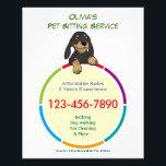 """Color Ring Pet Sitter Promotional Flyer<br><div class=""""desc"""">Color Ring Pet Sitter Promotional Flyer</div>"""