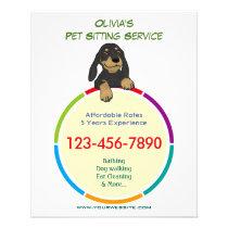 Color Ring Pet Sitter Promotional Flyer