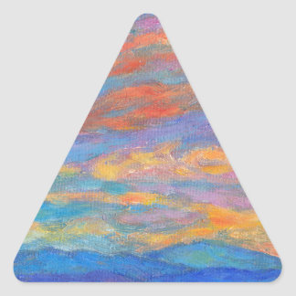 Color Ripples over The Blue Ridge Triangle Stickers