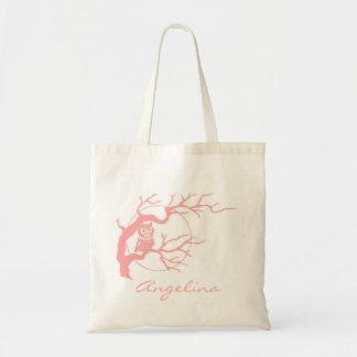 Color rojizo rosado los propios encaramados en una bolsas lienzo