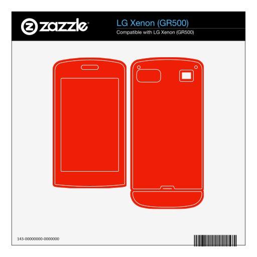 color rojo anaranjado brillante skins para elLG xenon