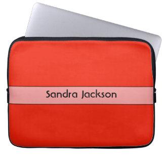 Color rojo anaranjado brillante personalizado manga portátil