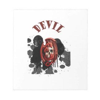 Color rojo del cráneo del diablo bloc